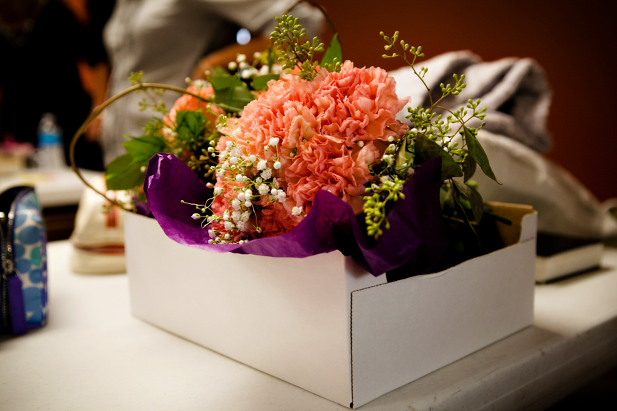 Bright florals for a fall wedding
