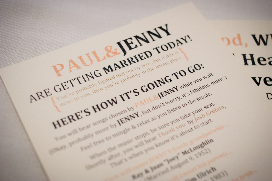 Ceremony details of a fall wedding