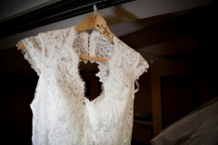 Bride to be in a gorgeous Maggie Sottero lace wedding dress