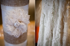 Lace decor and the beautiful lace of Maggie Sottero dress in Owatonna, Minnesota