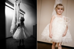 Flowergirl images before the ceremony at Good Shepherd Lutheran Church in Owatonna