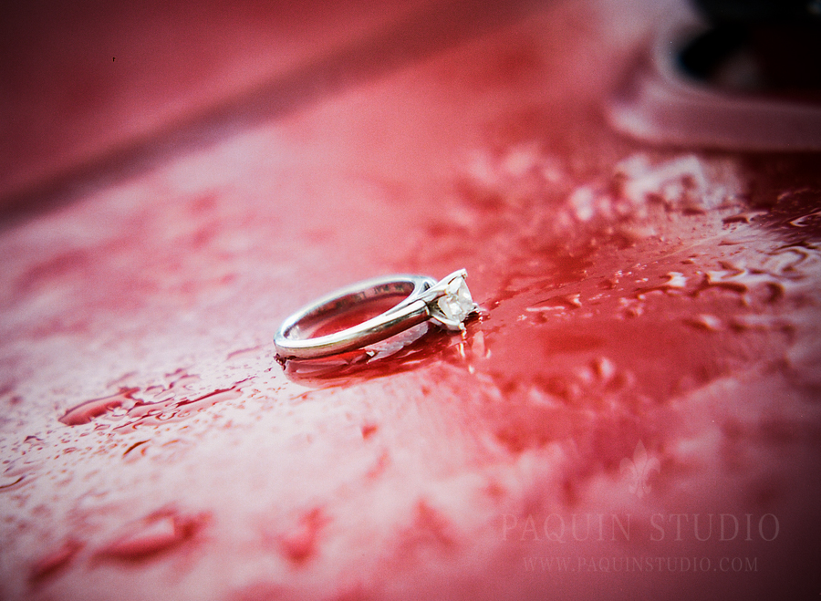 The ring at an engagement session at Farm America, Waseca
