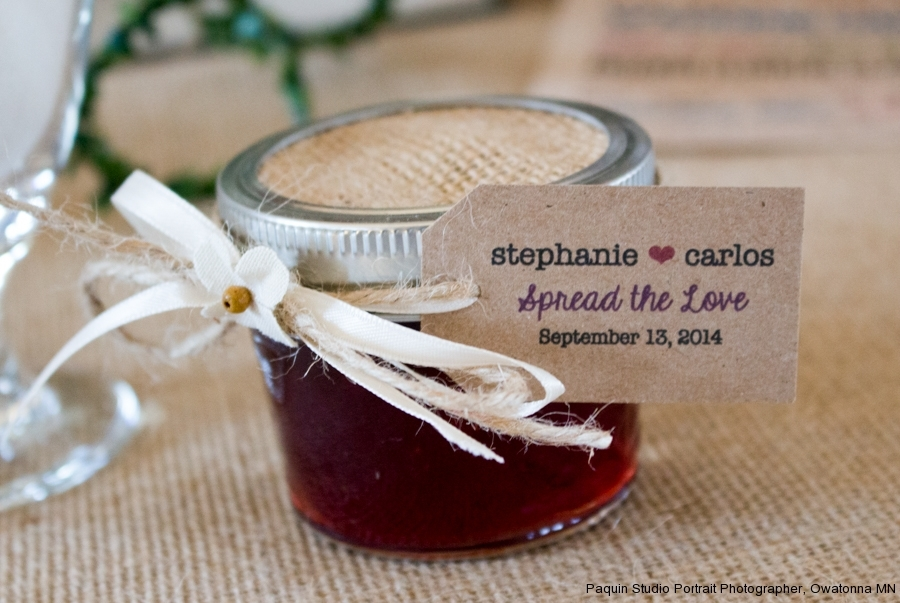 Rustic Jam Wedding Favor at Vintage Ballroom, Faribault