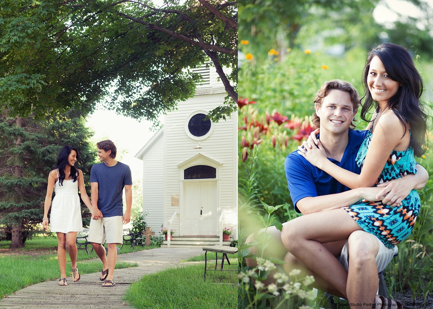 Engagement photography session at The Village of Yesteryear in Owatonna