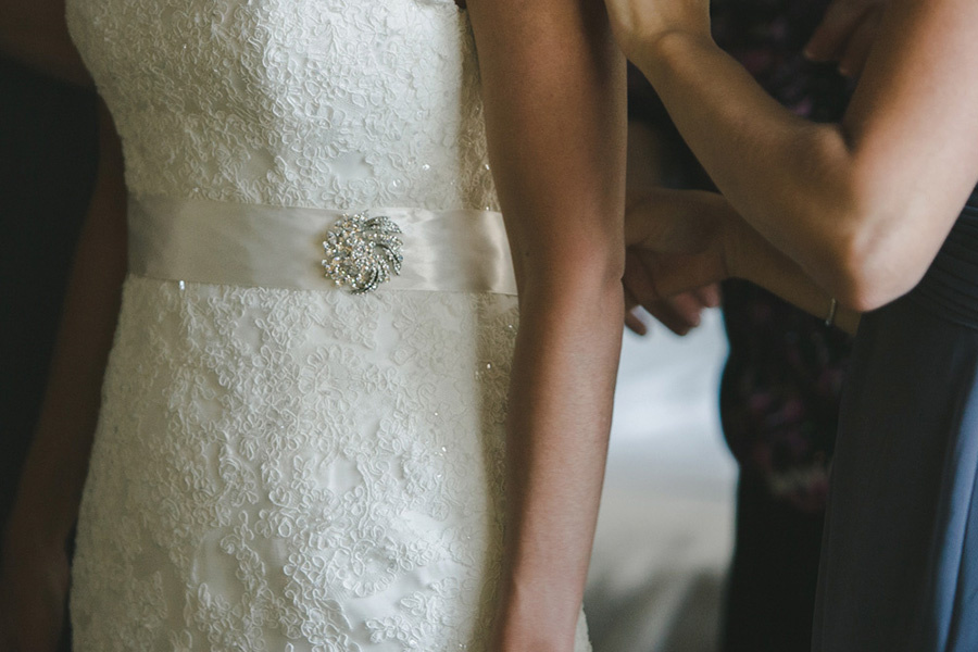Wedding dress details in Minneapolis