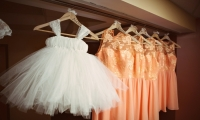 Flower girl and bridesmaid dresses at an Owatonna wedding