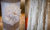 Lace details on decor and a Maggie Sottero in Owatonna