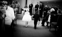 Ring bearer and flower girl at Good Shepherd Lutheran Church, Owatonna
