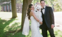 Wedding dogs are the best - a sweet candid at West Hills, Owatonna