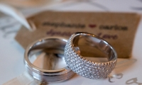Wedding ring details at a Faribault wedding