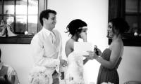 Bridesmaid speech at the Vintage Ballroom in Faribault