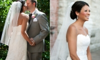 Beautiful bride and groom at the Crowne Plaza Hotel