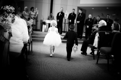Ring bearer and flower girl at Good Shepherd Lutheran Church, Owatonna