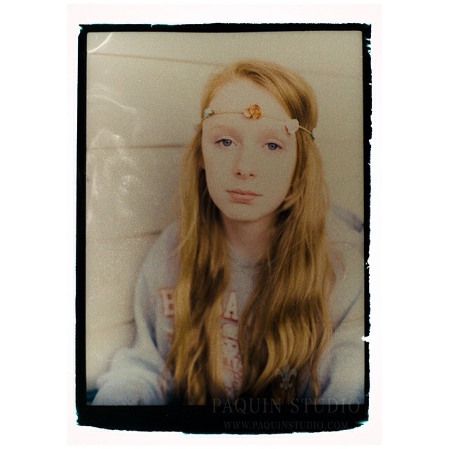 Reclaimed Polaroid negative - a fun evening with bleach and a brush! #polaroid #mamiya645 #fujifilm #paquinstudio