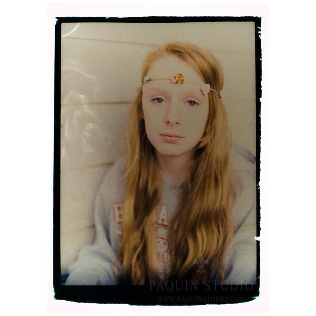 Reclaimed Polaroid negative - a fun evening with bleach and a brush! #polaroid #mamiya645 #fujifilm #paquinstudio