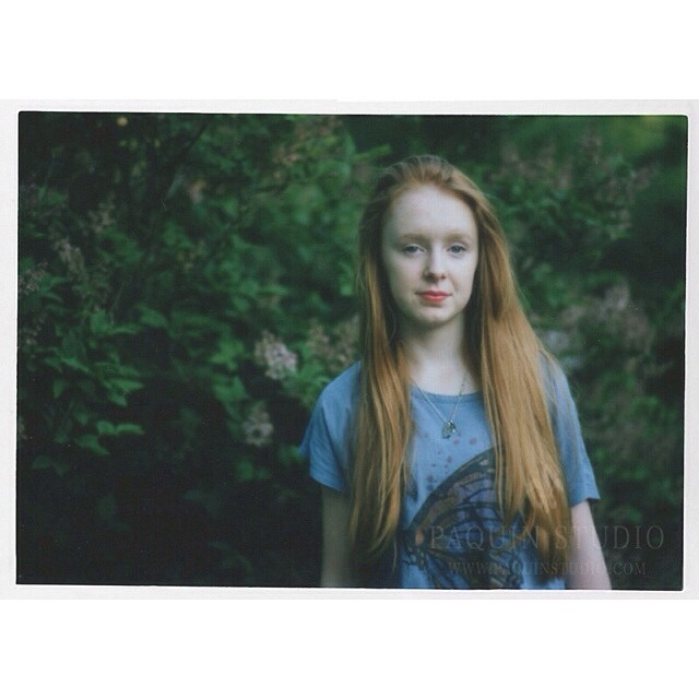 Belle in the garden. A little #polaroid joy. #mamiya645 #fujifilm #paquinstudio #film #owatonna #minnesota