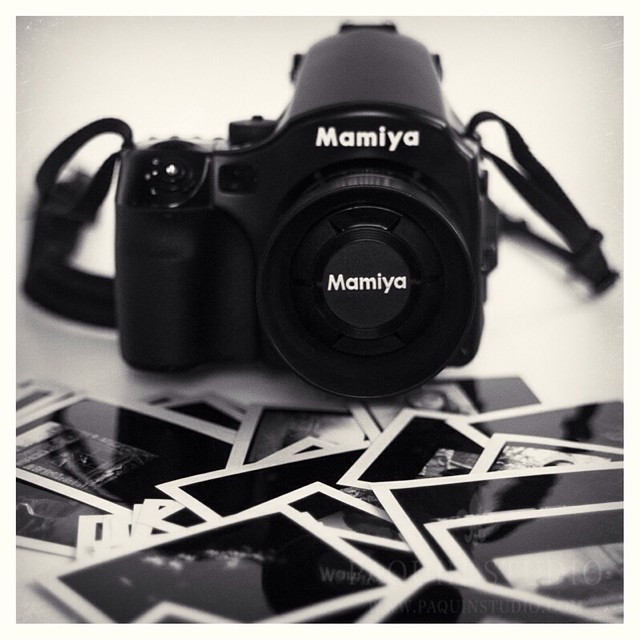 My favorite. Mamyia 645 afd with #mamiya80mmf19 and a bunch of little #polaroids #paquinstudio