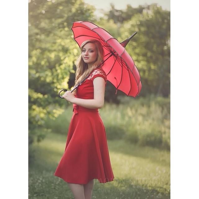 Her Red Umbrella. #seniorpictures #paquinstudio #film #mamiya645 #kodak #portra #filmshooter #minnesota