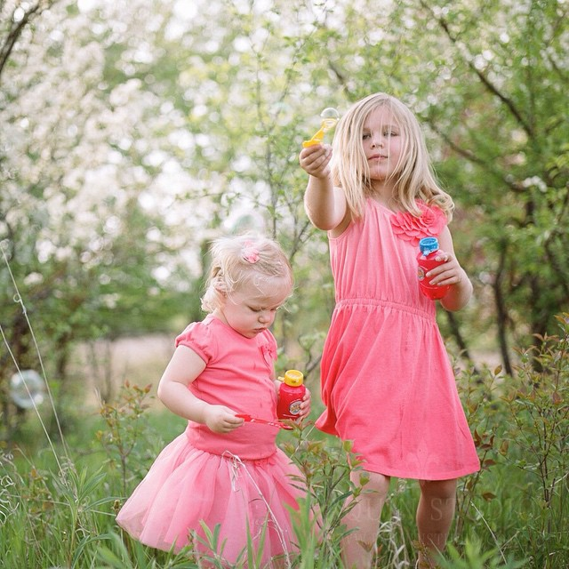 Bubbles and blossoms. Happy Easter