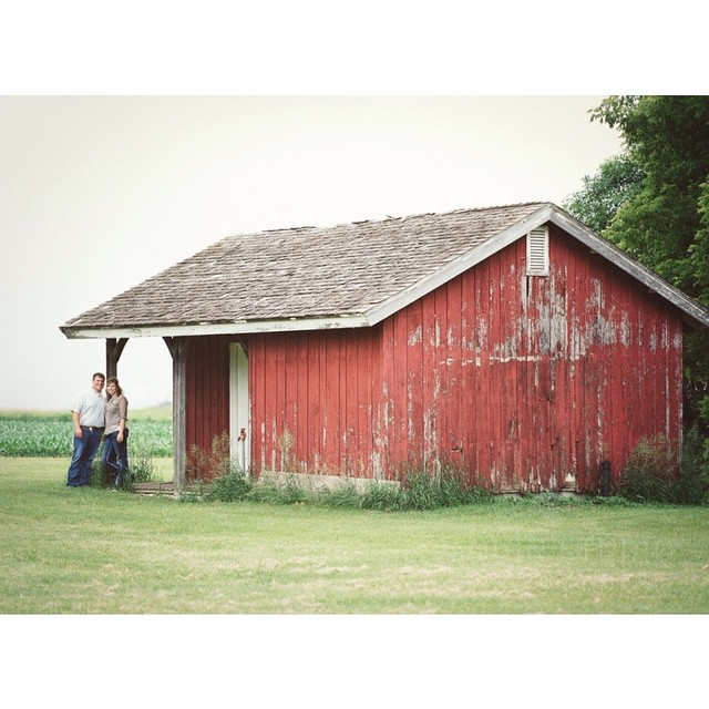 Engaged at the farm. I'm thrilled to be shooting the wedding of these two in a couple of weeks.